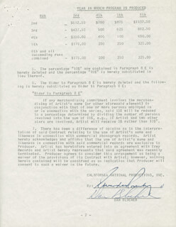 Autographs: DAN HOSS BLOCKER - DOCUMENT SIGNED 08/17/1961