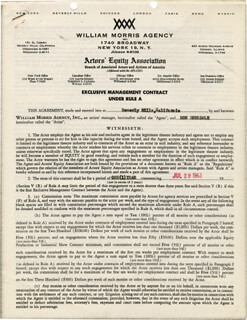 DON DRYSDALE - CONTRACT SIGNED 07/29/1963