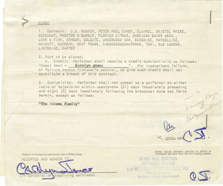 CAROLYN JONES - CONTRACT SIGNED 09/29/1965
