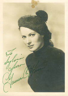 MAUREEN O'HARA - AUTOGRAPHED INSCRIBED PHOTOGRAPH