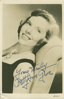 BETTY ANN GROVE - AUTOGRAPHED SIGNED PHOTOGRAPH