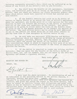 ROWAN & MARTIN (DAN ROWAN) - DOCUMENT SIGNED 12/14/1976 CO-SIGNED BY: ROWAN & MARTIN (DICK MARTIN)