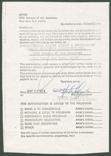 HECTOR ELIZONDO - DOCUMENT SIGNED 05/10/1974