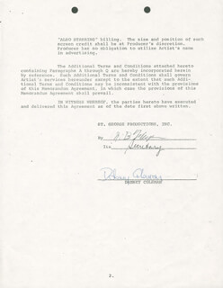 DABNEY COLEMAN - DOCUMENT SIGNED 06/26/1973