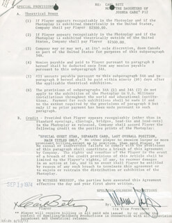 Autographs: CARL BETZ - DOCUMENT SIGNED 09/09/1974