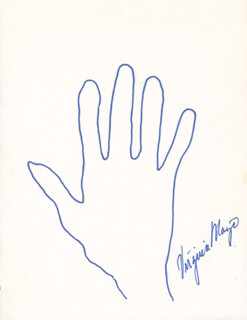 VIRGINIA MAYO - HAND/FOOT PRINT OR SKETCH SIGNED