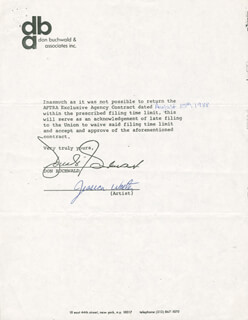 JESSICA WALTER - DOCUMENT SIGNED 08/15/1988