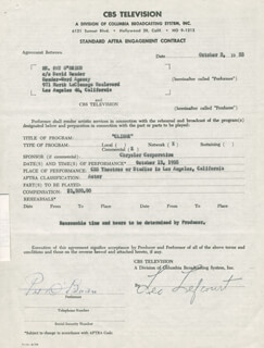 PAT O'BRIEN - DOCUMENT SIGNED 10/03/1955