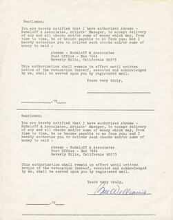 BILL WILLIAMS - DOCUMENT SIGNED