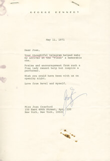 GEORGE KENNEDY - TYPED LETTER SIGNED 05/11/1971