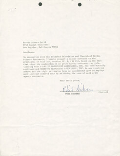 PHIL SILVERS - DOCUMENT SIGNED
