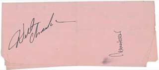 Autographs: WILT THE STILT CHAMBERLAIN - DOCUMENT SIGNED CO-SIGNED BY: JERRY WEST