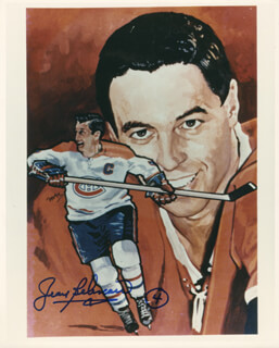 JEAN BELIVEAU - AUTOGRAPHED SIGNED PHOTOGRAPH