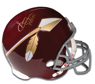 SONNY JURGENSEN - FOOTBALL HELMET SIGNED