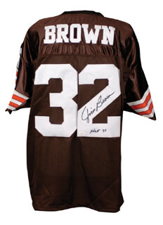 Autographs: JIM BROWN - JERSEY SIGNED
