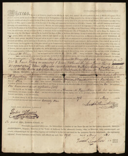 JOSEPH ARMSTRONG - DEED SIGNED 05/29/1821 CO-SIGNED BY: N. W. ANDERSON