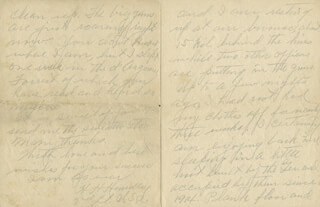 Autographs: 42ND RAINBOW DIVISION - AUTOGRAPH LETTER SIGNED 10/27/1918 CO-SIGNED BY: HENRY H. HUNDLEY