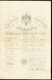 PRESIDENT JAMES BUCHANAN - PASSPORT SIGNED 04/17/1848