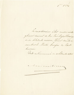Autographs: EMPEROR MAXIMILIAN (MEXICO) - MANUSCRIPT DOCUMENT SIGNED 09/30/1866