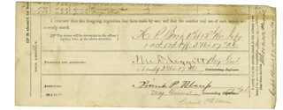 Autographs: MAJOR GENERAL FRANCIS P. BLAIR JR. - DOCUMENT SIGNED 01/15/1865 CO-SIGNED BY: MAJOR GENERAL MORTIMER D. LEGGETT, MAJOR WHEELOCK PRATT