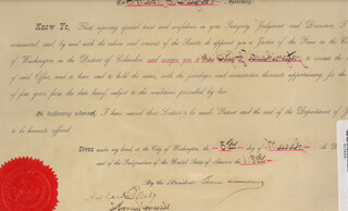 Autographs: PRESIDENT GROVER CLEVELAND - CIVIL APPOINTMENT SIGNED 03/05/1894 CO-SIGNED BY: RICHARD OLNEY