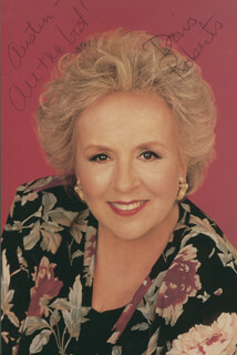 DORIS ROBERTS - INSCRIBED PICTURE POSTCARD SIGNED