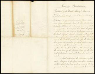 PRESIDENT JAMES BUCHANAN - PARDON SIGNED 01/03/1861 CO-SIGNED BY: JEREMIAH S. BLACK