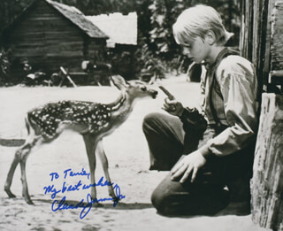 CLAUDE JARMAN JR. - AUTOGRAPHED INSCRIBED PHOTOGRAPH