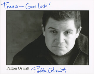 PATTON OSWALT - AUTOGRAPHED INSCRIBED PHOTOGRAPH