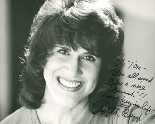 RUTH BUZZI - AUTOGRAPHED INSCRIBED PHOTOGRAPH