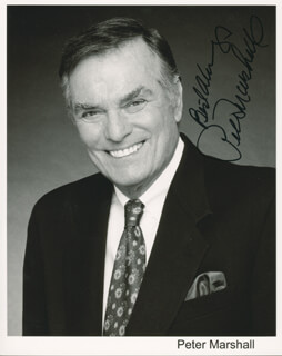 PETER MARSHALL - PRINTED PHOTOGRAPH SIGNED IN INK
