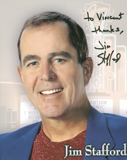 JIM STAFFORD - AUTOGRAPHED INSCRIBED PHOTOGRAPH
