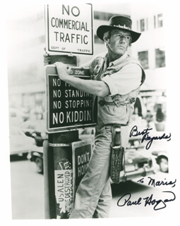 PAUL HOGAN - AUTOGRAPHED INSCRIBED PHOTOGRAPH