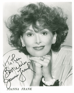 JOANNA FRANK - AUTOGRAPHED INSCRIBED PHOTOGRAPH