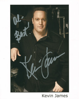KEVIN JAMES - AUTOGRAPHED INSCRIBED PHOTOGRAPH