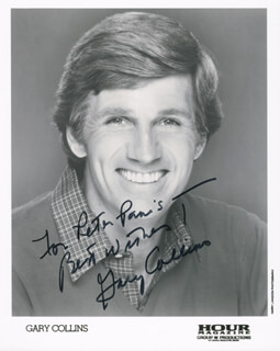 GARY COLLINS - AUTOGRAPHED INSCRIBED PHOTOGRAPH