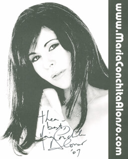 MARIA CONCHITA ALONSO - AUTOGRAPHED INSCRIBED PHOTOGRAPH 2007