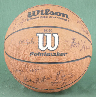 THE DENVER NUGGETS - BASKETBALL SIGNED CIRCA 1988 CO-SIGNED BY: WAYNE COOPER, WALTER DAVIS, T. R. DUNN, ALEX ENGLISH, FAT LEVER, CALVIN NATT, BLAIR RASMUSSEN, DANNY SCHAYES, ELSTON TURNER
