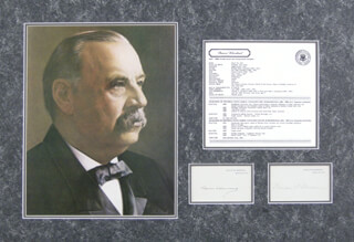 Autographs: PRESIDENT GROVER CLEVELAND - COLLECTION WITH FIRST LADY FRANCES F. CLEVELAND