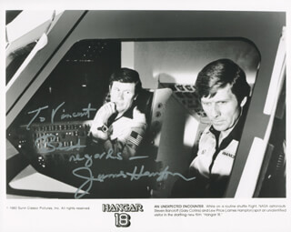 JAMES HAMPTON - AUTOGRAPHED INSCRIBED PHOTOGRAPH