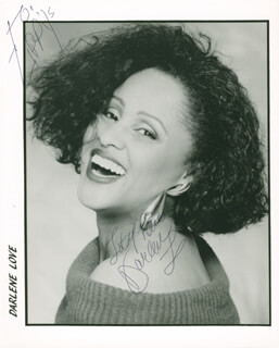 DARLENE LOVE - INSCRIBED PRINTED PHOTOGRAPH SIGNED IN INK