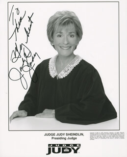 JUDGE JUDY SHEINDLIN - AUTOGRAPHED INSCRIBED PHOTOGRAPH