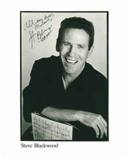 STEVE BLACKWOOD - AUTOGRAPHED INSCRIBED PHOTOGRAPH