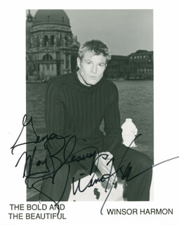 WINSOR HARMON - AUTOGRAPHED INSCRIBED PHOTOGRAPH