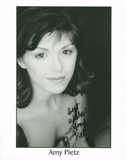 AMY PIETZ - AUTOGRAPHED SIGNED PHOTOGRAPH