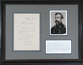 Autographs: MAJOR GENERAL JOSHUA LAWRENCE CHAMBERLAIN - AUTOGRAPH LETTER SIGNED 02/06/1911
