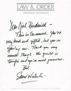 SAM WATERSTON - AUTOGRAPH LETTER SIGNED