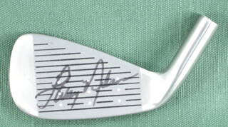 Autographs: LARRY NELSON - GOLF CLUB HEAD SIGNED
