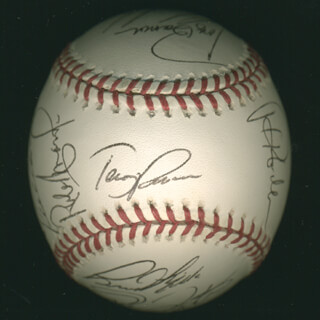 THE PHILADELPHIA PHILLIES - AUTOGRAPHED SIGNED BASEBALL CO-SIGNED BY: SCOTT ROLEN, TERRY FRANCONA, BOBBY ESTALELLA, DAVE DOSTEN, TONY BARRON, CALVIN MADURO, RON BLAZIER