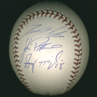 CHAD CORDERO - AUTOGRAPHED SIGNED BASEBALL CO-SIGNED BY: GARY MAJEWSKI, ZACH DAY, TOMOKAZU OHKA, JOHN PATTERSON